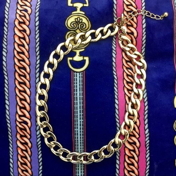 70 off Jewelry Cuban Links Faux Gold Chain Poshmark